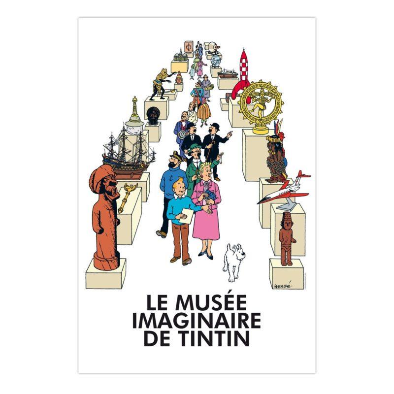 POSTER MUSÉE IMAGINAIRE TINTIN