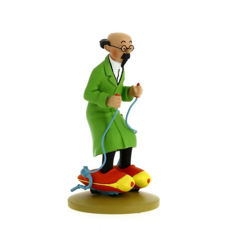 Figurine Tintin Tournesol Patins à moteur