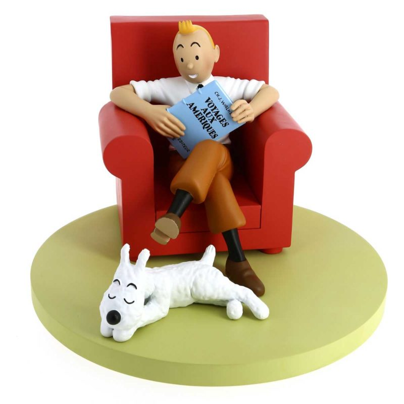 TINTIN FAUTEUIL ROUGE