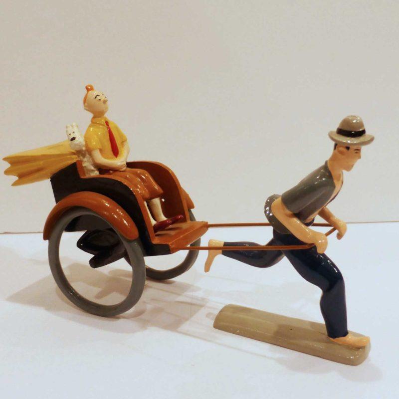 Tintin dans le pousse-pousse