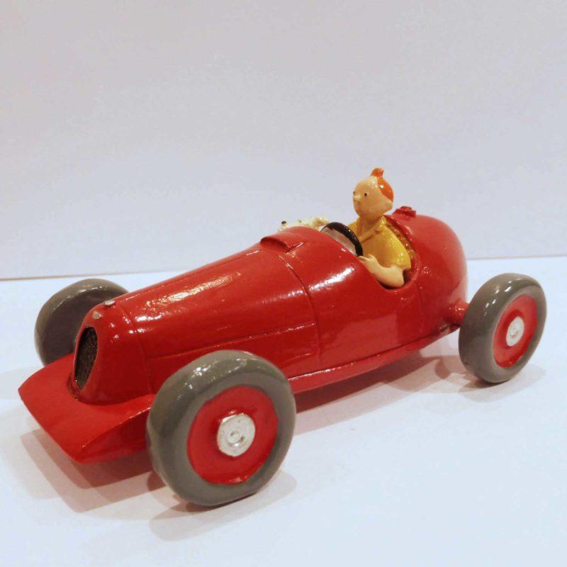 Tintin et Milou dans la voiture, figurine Pixi