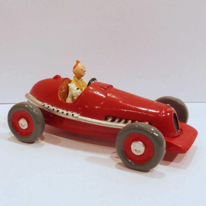 Tintin et Milou dans la voiture
