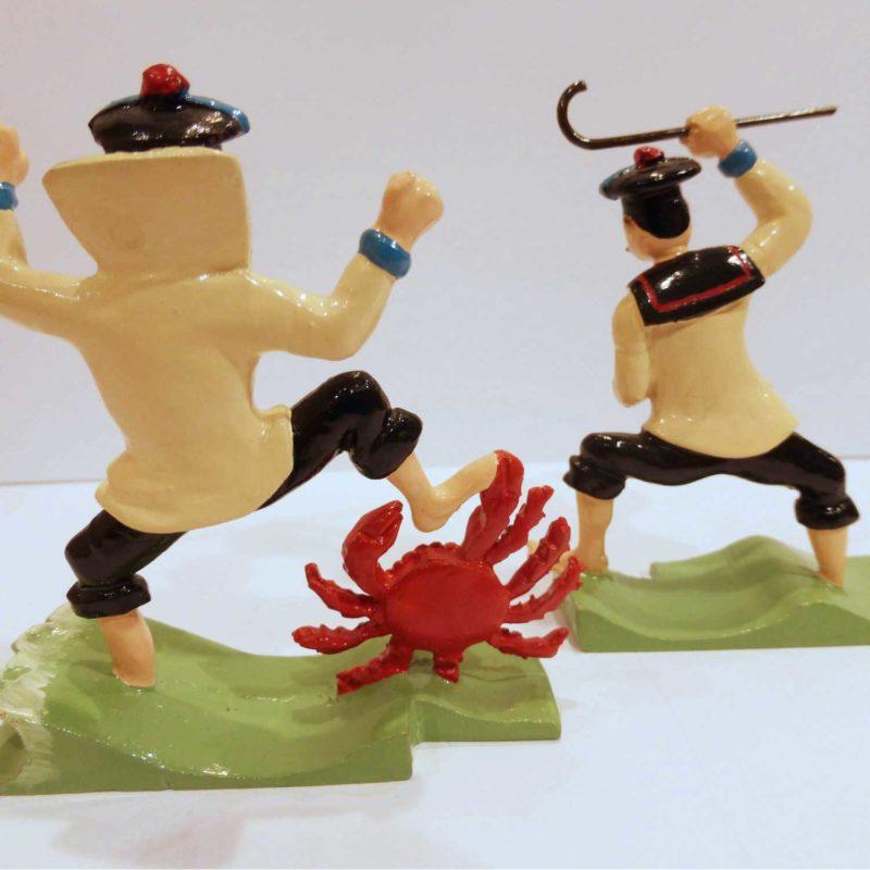 figurine Pixi, les Dupondt avec le crabe