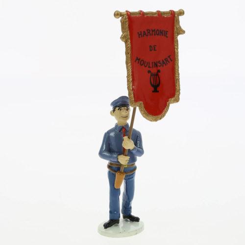 porte drapeau fanfare de Moulinsart