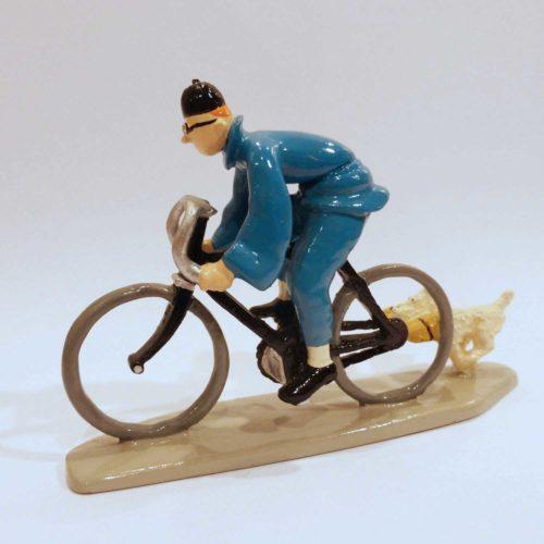 Tintin et Milou à vélo dans le Lotus Bleu