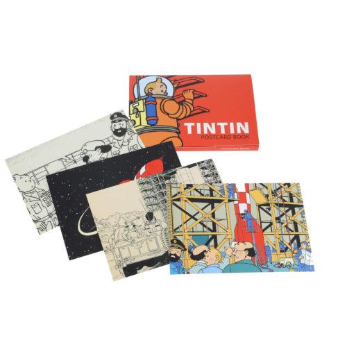 coffret de 16 cartes postales tintin