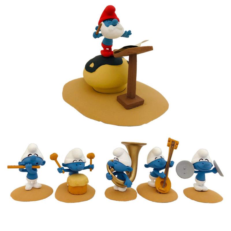 figurine orchestre des Schtroumps