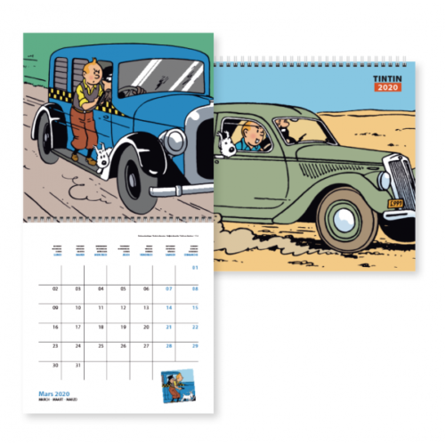 calendrier Tintin 2020